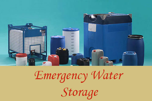 emergency water storage