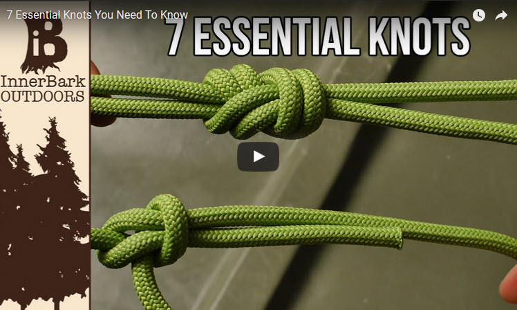 7 essential knots from paracord