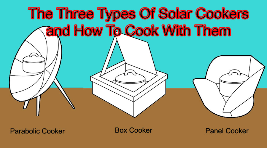 three types of solar cookers